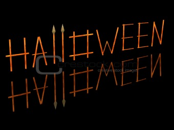3D the image of a word a Halloween