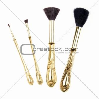 Antique Retro Makeup Brush Set