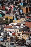 Aerial view of buildings in Guanajuato, Mexico