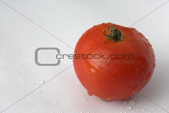 Tomato on a white background