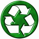3D Recycling Symbol