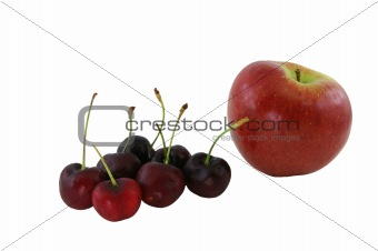 Apple And Cherries