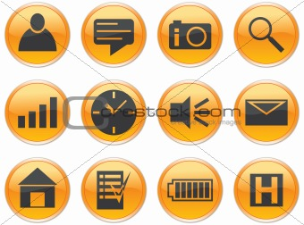 Gadget icons set.