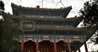 Old Chinese Pavilion Jingshan Gongyuan Coal Hill Park Beijing, C