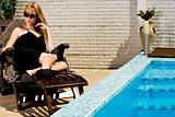 The pool and my black dress