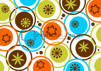 circles and flowers pattern