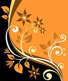 orange floral background