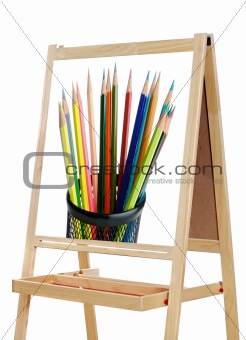 blackboard with image of pencils