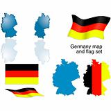 Germany map and flag set