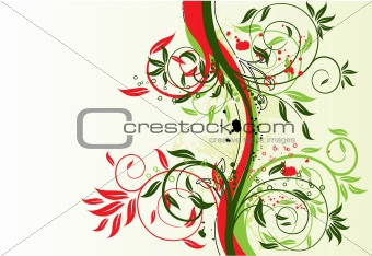 Floral background, vector