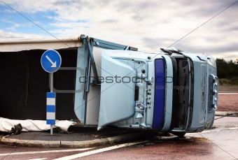 Overturned Lorry