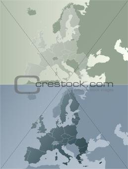 European union earthtones map