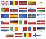 European union modern style flags