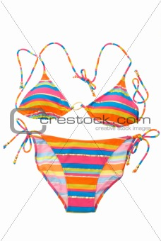 Bright striped bikini