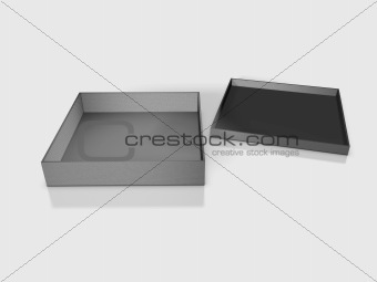 Blank boxes - Box package on white background