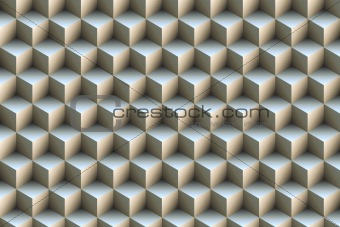 3d blue metallic cubes background