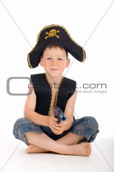 Sitting pirate boy