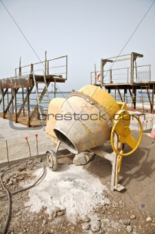cement mixer side