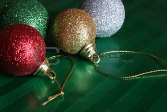Four Shiny Christmas Balls