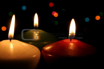 Three Festive Candles