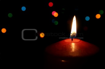 Single Red Christmas Candle