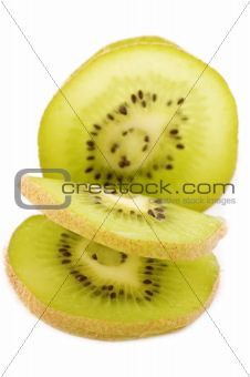 cutting kiwi closeup