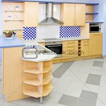 Blue kitchen square