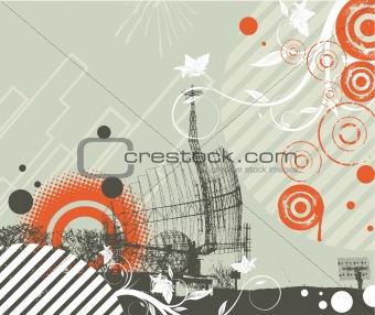 Abstract techno theme.