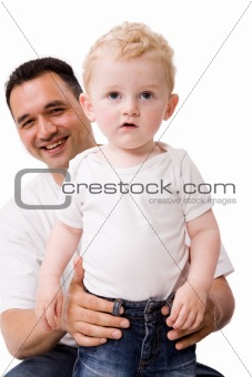 Blond boy and his daddy