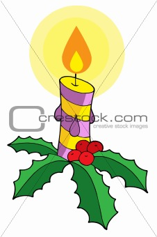 Christmas candle vector illustration