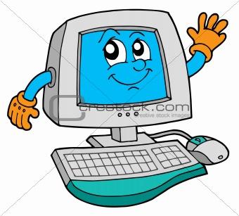 Cute computer vector illustration