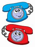 Cute telephones vector illustration