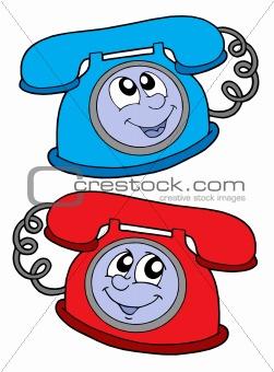 Cute telephones vector illustration