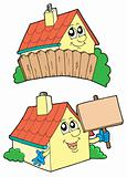 Pair of cute houses