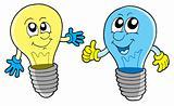 Pair of cute lightbulbs