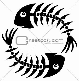 Pair of fishbones