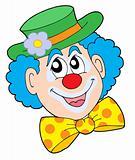 Portrait of clown vector illustration