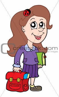 Pupil with school bag