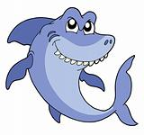 Smiling shark vector illustration