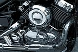 Motorcycle Chrome Engine
