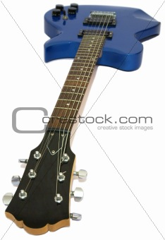 Blue guitar, isolated
