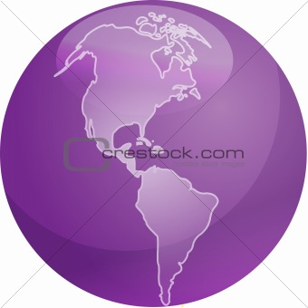 Map of Americas sphere