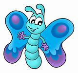 Cute blue butterfly