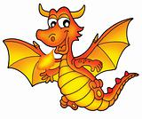 Cute red dragon