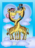 Giraffes wedding