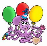 Octopus with ballons