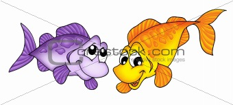 Yellow and purple fish