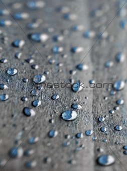 Abstract background with bubbles on the wood