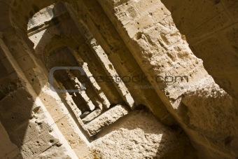 Old corridor of an amphitheatre