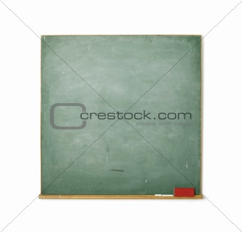 Blackboard isolated on white